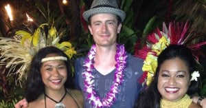 Tim with Luau Dancers - cropped for Facebook
